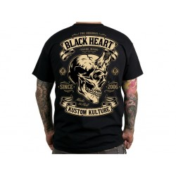 Triko Black Heart DEVIL SKULL
